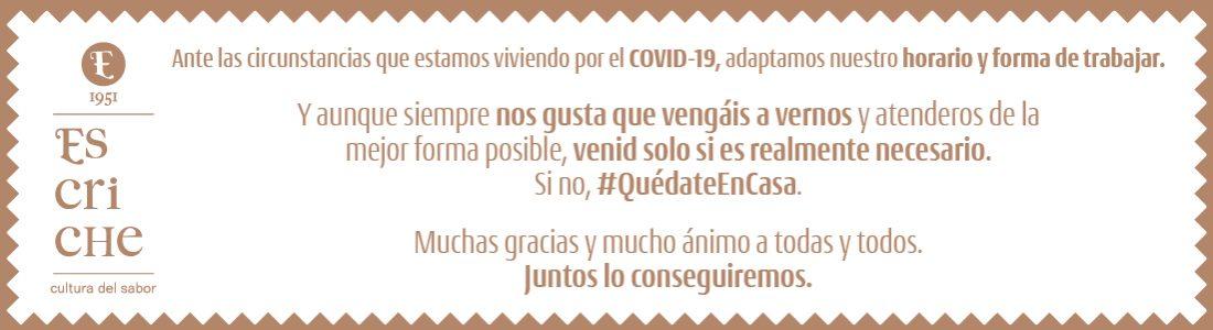 Escriche Comunicado Covid-19